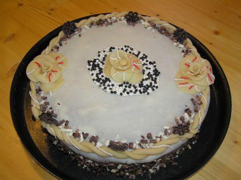 marcipanos torta készítés